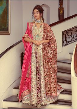 Traditional Festive Ivory Made to Order Bridal HAB-060
