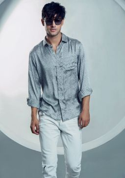 Basic Grey Linen Casual Shirt