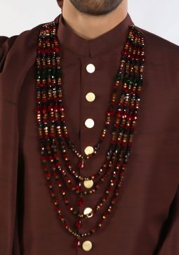 Classic Traditional Crystal Necklace Multi Color
