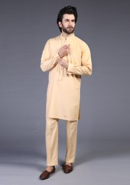 Classic Poly Viscose Winter Wheat Slim Fit Suit