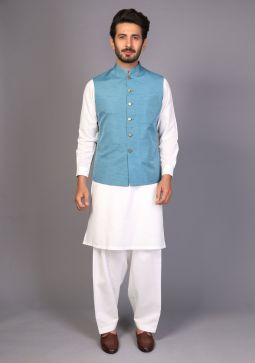 Traditional Tapestry plain Raw Silk waistcoat