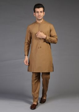 Basic Cotton Peanut Slim Fit Suit