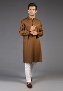 Basic Poly Viscose Desert Plam Classic Fit Kurta