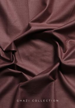 Amir Adnan Ghazi Collection Rose Brown Unstitched Fabric
