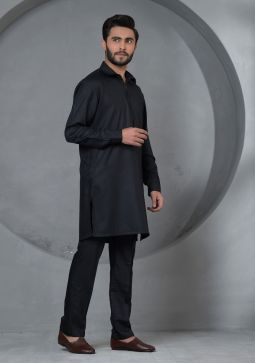 Basic Poly Viscose Caviar Slim Fit Plain Suit