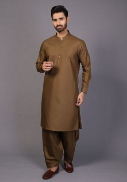 Classic Poly Viscosee Military Slim Fit Plain Suit