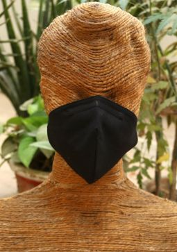 Men Plain Cotton Mask