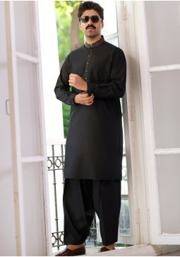 Basic Poly Viscose Tap Shoe Classic Fit Embroidered Suit
