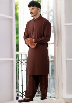 Basic Poly Viscose Fudgsickle Classic Fit Embroidered Suit