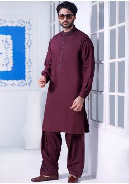 Basic Poly Viscose Andorra Classic Fit Embroidered Suit